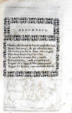 Erasmo di Valvasone - La caccia - Venezia 1602
