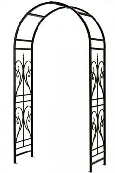 Scroll Finial Arbor without Gate