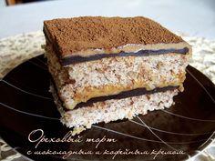 Ореховый торт. Russian Desserts, Russian Recipes, Yummy Snacks, Yummy Treats, Sweet Treats, Hungarian Cake, Pastry Cake, Sweet Cakes, How Sweet Eats