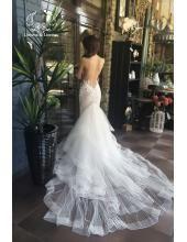 Traumhaftes Aufgefallenes Bodenlang Brautkleider 2016 aus Softnetz