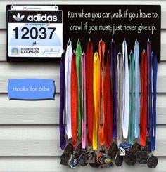 Beast Mode Marathon medal display rack holder race b Running Bib Display, Race Bib Display, Race Medal Displays, Running Bibs, Running Medals, Running Sports, Sports Medals, Medal Holders, Fitness Inspiration Quotes