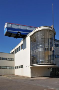 """Hang On A Minute Lads, I've Got A Great Idea…"" is an art installation on the roof of the De La Warr Pavilion by British artist Richard Wilson."