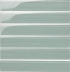 2 X 12 Bellavita Bamboo Glass Tile Plank - BP12SN Snow - Glossy