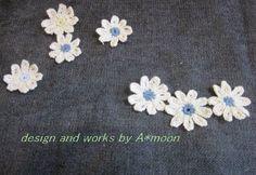 #114 レース糸で編むマーガレットモチーフの作り方 手順12 編み物 編み物・手芸・ソーイング ハンドメイド・手芸レシピならアトリエ