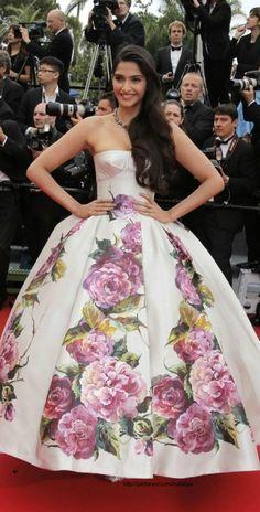 Sonam Kapoor floral gown