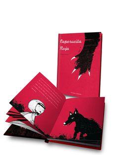 Little Red Riding Hood by Carmen Saldana, via Behance Charles Perrault, Good To See You, Big Bad Wolf, Red Hood, Red Riding Hood, Little Red, Book Design, Fairy Tales, Children Books
