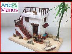 YouTube Putz Houses, Crib Sets, Diorama, Gingerbread, Nativity, Outdoor Decor, Christmas, Diy, Crafts