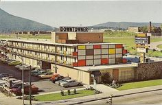 Chattanooga TN Downtowner Motor Inn Postcard #s1208