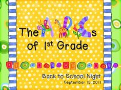 ABCs of 1st Grade Back to School Night PowerPoint Template | by Sailing Through 1st Grade