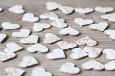 DIY RUSTIC WEDDING   Rustic Wedding Hearts 50pics Paper Hearts Eco by LaBodaShop #diy #rustic #wedding #decoration #heart #decor #confetti #recycled #ecofriendly #woodland #craft #supplies #cardboards #hearts