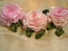 Ribbon roses by zaliana, via Flickr