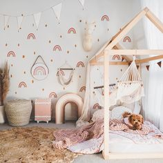 Olli Ella Seeya Suitcase in this cute and whimsical little girl& nursery/playroom Olli Ella Seeya Suitcase in this cute and whimsical little girls nursery/playroom