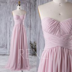2016 Dusty Thistle Bridesmaid Dress, Sweetheart Chiffon Wedding Dress, Strapless Long Evening Gown, A Line Prom Dress Floor Length (J021)