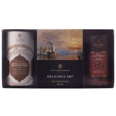 Afternoon Gift Set. This delightful gift set includes the finest Earl Grey Black Tea, scrumptious Milk Chocolate Enrobed Raspberry and satisfying Shortbread & Clotted Cream biscuits. The perfect gift for tea lovers. #tea