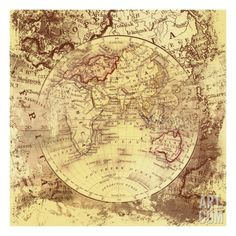 Vintage Map Eastern Art Print by Malcolm Watson. Save up to 40% for a limited time at Art.com.