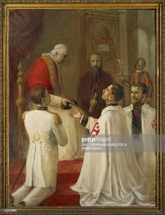 Carlo Guarnieri , Pope Pius X Giving the Military Trophy to the... News Photo   Getty Images