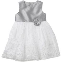 George Toddler Girl Lacquer Dot Ballerina Holiday or Special Occasion Dress, Size: 3 Years, Gray