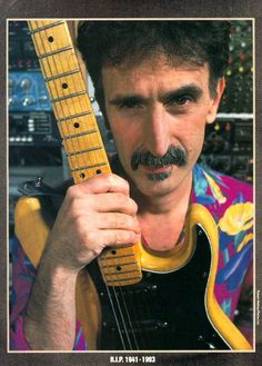 Zappa - a musical genius -just shut up and play your guitar - got really sick of his self righteous sarcasm.Did he ever have anything positive to say about anything? Did he ever offer any solutions? Santana Guitar, Frank Vincent, Kerry King, Best Guitar Players, Eddie Van Halen, Prs Guitar, Frank Zappa, Eric Clapton, Cool Guitar