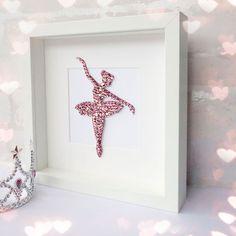 Pink ballerina nursery wall art girls room decor ballerina