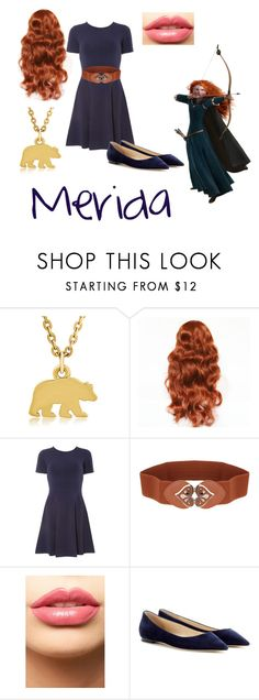 """Welcoming Ball~ Merida"" by babytoothless ❤ liked on Polyvore featuring George & Laurel, Dorothy Perkins, Disney, LASplash and Jimmy Choo"