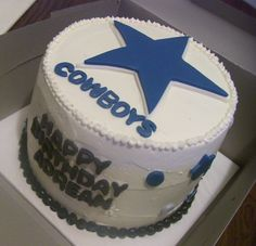 Dallas Cowboys Cake Dallas cowboys cake Cowboy cakes and Dallas