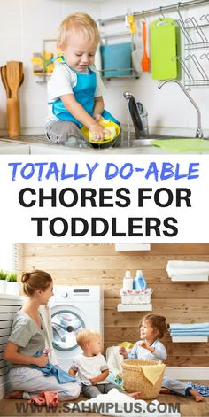 Giving your toddler chores is a great way to include them and teach them responsibility. These are age-appropriate chores for your toddler. Toddler Chores, Toddler Discipline, Chores For Kids, Toddler Learning, Toddler Snacks, Toddler Toys, Toddler Activities, Positive Discipline, Boy Toddler