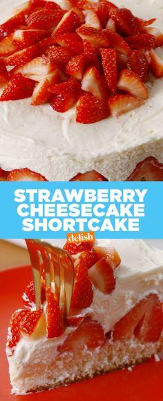 Strawberry Shortcake CheesecakeDelish