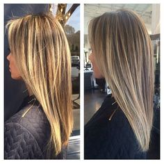 bronde tones, inside and outside.