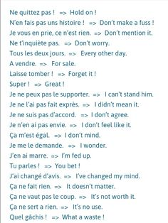 Get french expressions HD Wallpaper [] asugio-wall. Common French Phrases, Useful French Phrases, Basic French Words, How To Speak French, Learn French, Learn English, French Slang, French Verbs, French Grammar