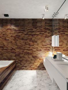 Ванная комната. Квартира в индустриальном стиле, ЖК «Омега Хаус», 140 кв.м.