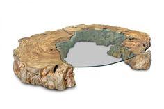 Mesa de Centro Abati de madeira Pequiá da Tora Brasil. Medidas: 240 x 35 cm