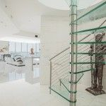 Glass Spiral Staircase - Penthouse in Miami Design District | Bella Stairs Spiral Staircase, Miami, Stairs, Glass, Modern, Design, Ladder, Spiral Stair, Stairway