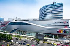 Central Rama 9 - Located just minutes from the new Bangkok  Airport Express Rama 9 station, Benoy has  created a new exciting retail destination. The new seven storey retail centre and  integrated office component comprises an  80,000m² development named Rama 9  Square.