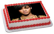 Rihanna 2 Edible Birthday Cake Topper OR Cupcake Topper, Decor