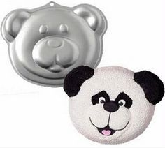 Aluminium Alloy Panda Head Baking Dish Cupcake Stand Baking Pans Pop Cake Mold Metal Fondant Cake Decorating Tools