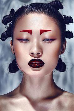 Check out new work on my portfolio: &quotCHINA RED&quot be. - Check out new work on my portfolio: &quotCHINA RED&quot . Makeup Inspo, Makeup Inspiration, Beauty Makeup, Eye Makeup, Hair Makeup, Chinese Makeup, Asian Makeup, Photographie Portrait Inspiration, Foto Fashion