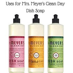 5 Uses for Mrs. Meyers Clean Day Dish Soap you can use at home, including degreasing walls and cabinets, eliminating aphids, and making bubbles for kids.  #MrsMeyers