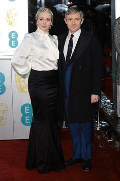 Amanda Abbington y el actor británico Martin Freeman.