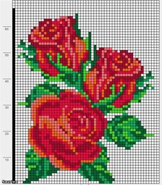 Designing Your Own Cross Stitch Embroidery Patterns - Embroidery Patterns Cross Stitch Rose, Cross Stitch Borders, Cross Stitch Flowers, Cross Stitch Charts, Cross Stitch Designs, Cross Stitching, Cross Stitch Embroidery, Cross Stitch Patterns, Bead Loom Patterns