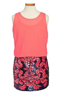 Flowers by Zoe Sleeveless Sequin Dress (Big Girls) available at #Nordstrom