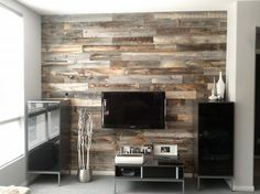 Stikwood thin wood planks have an adheave backing and can be applied to walls, ceilings and furniture. www.stikwood.com. Photo: Stikwood