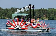 decorate pontoon 4th july - Google Search
