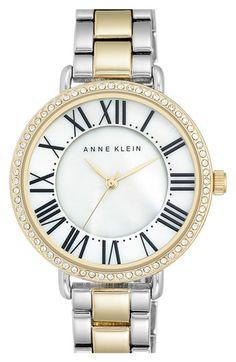 Anne Klein Round Bracelet Watch, 36mm
