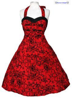rockabilly clothes | clothes womens alternative dresses 1950s rockabilly swing dress red ...