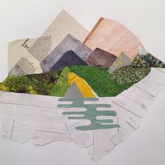 Mountains #morningcollage #collage