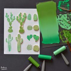 Andrea Lauren - Cactus Stamps