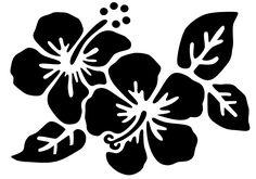 Hibiscus tatouage temporaire pochoir tattoo party
