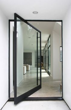 beatifull door with black steel