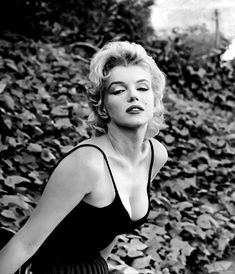 "I had never seen this photograph of Marilyn before, I would have to say that it is my favourite of her I have seen over time. I think it encompasses everything that the ""Marilyn Monroe"" she conceived quite literally. From the usual make up and untamed hair to the pose, the film and the setting."