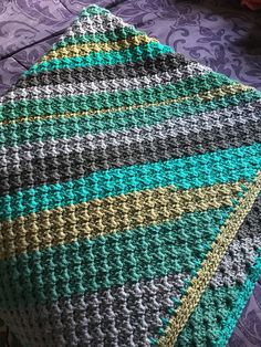 Ravelry: Project Gallery for Springy Stripes C2C Blanket-Fiber Flux Spring CAL pattern by Fiber Flux / Jennifer Dickerson